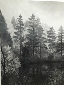 """Close-up of """"Pennsylvanian Bay"""", 1980, 199.4x210.8 cm, 1/5"""