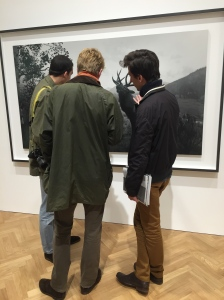 "Visitors in front of ""Wapiti"", 1980, 119.4x210.8 cm, 1/5"