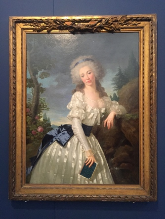 "Antoine Vestier, ""Portrait of a Lady with a book by a fountain"", 1785"