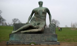 Henry Moore's sculpture Draped Seated Woman