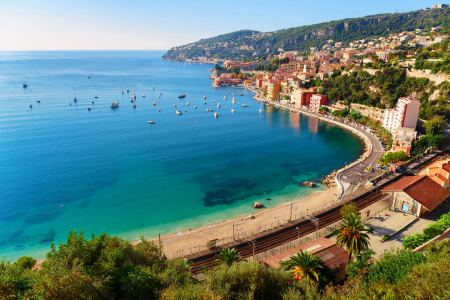 The coast of the Cote d'Azur near Villefranche
